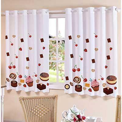 cortina de cocina con estampado