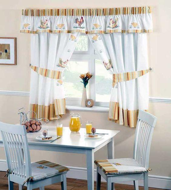 cortina de cocina hermosa