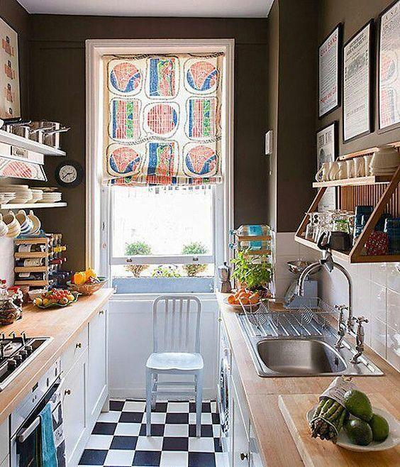cortina de cocina moderna