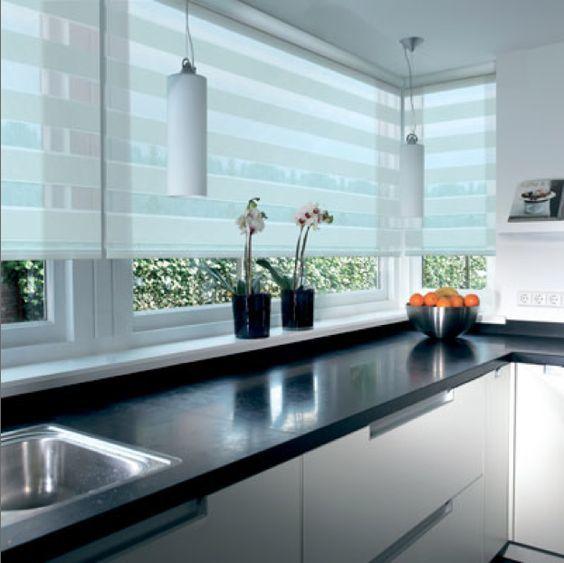 cortina de cocina moderna y elegante