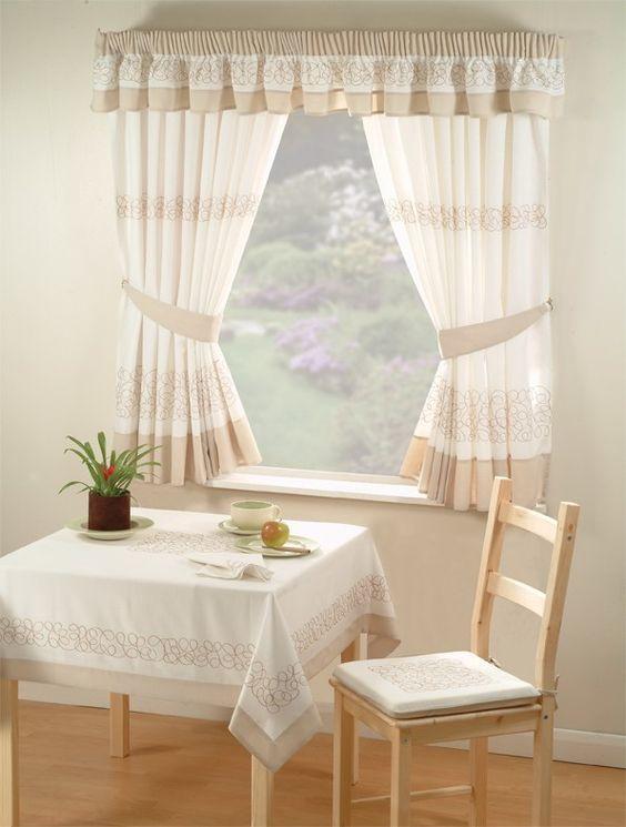 cortina de cocina vintage