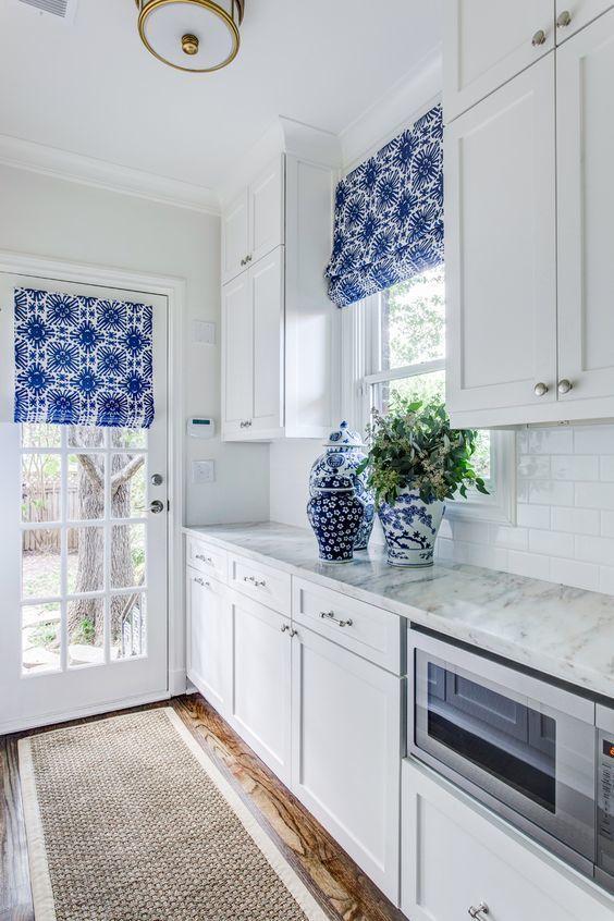 hermosa cortina de cocina