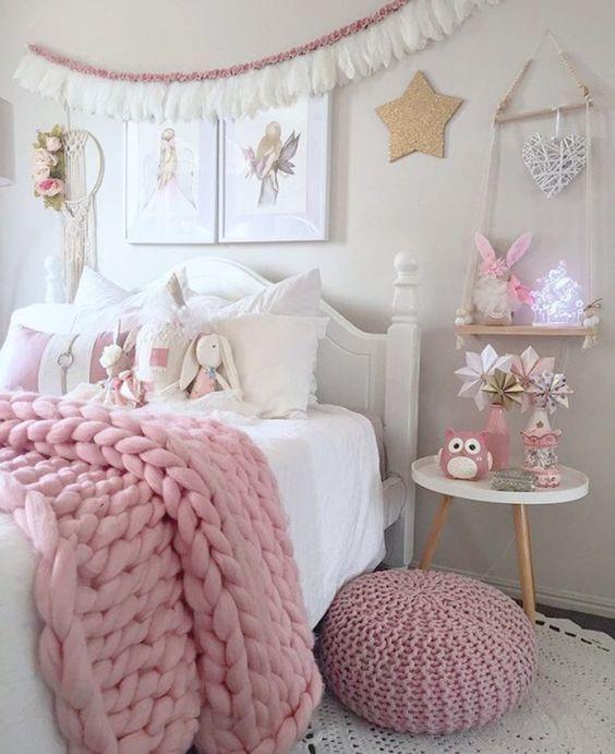blanco dormitorio vintage de niñas