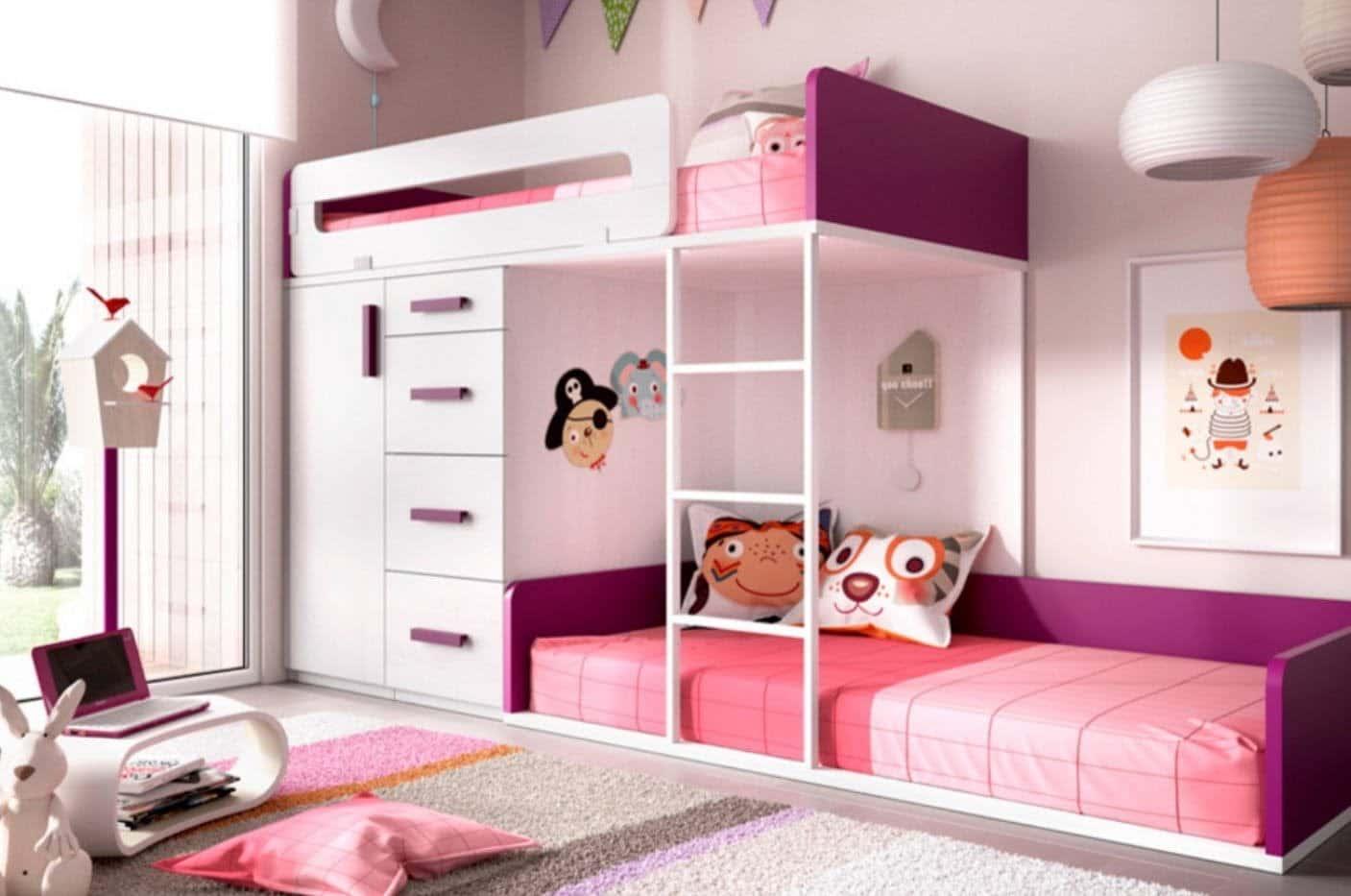 compacta habitacion de niñas