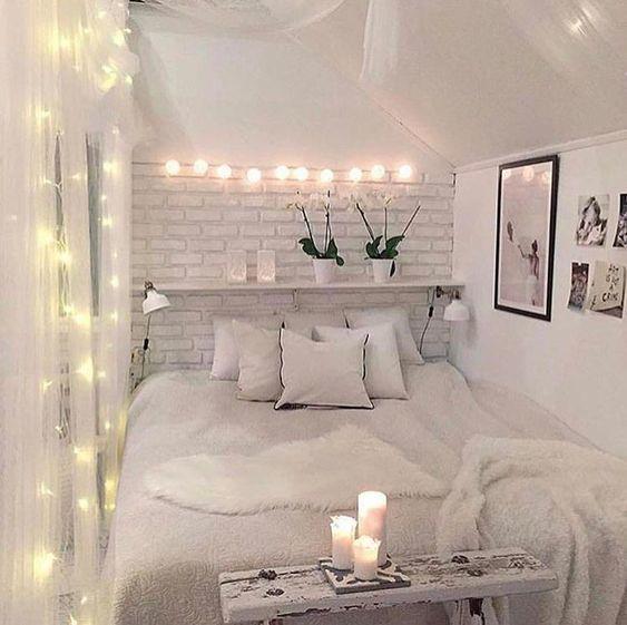dormitorio vintage con velas