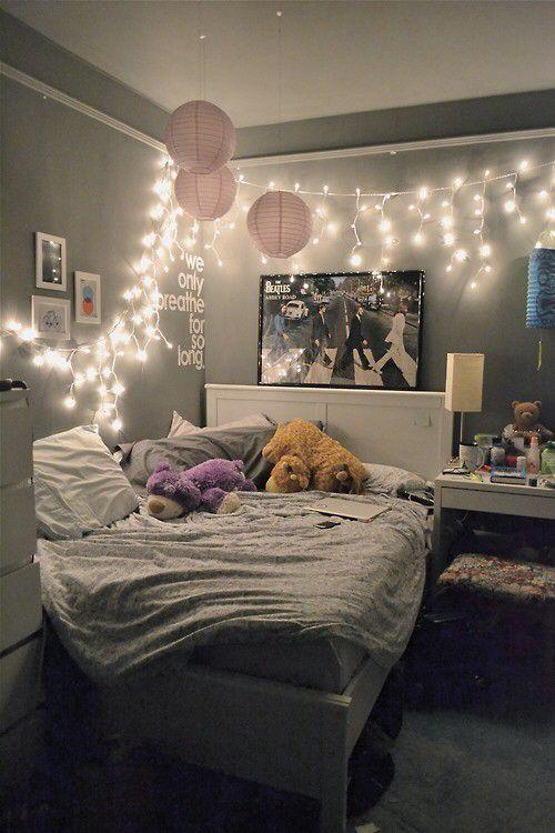 dormitorio vintage decorado