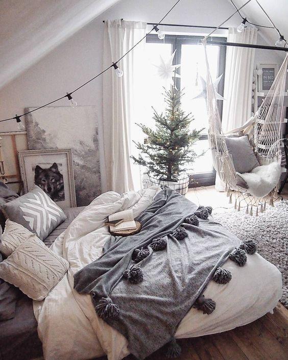dormitorio vintage hipster