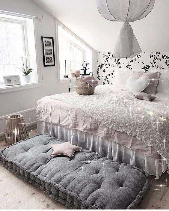 hermoso dormitorio vintage blanco