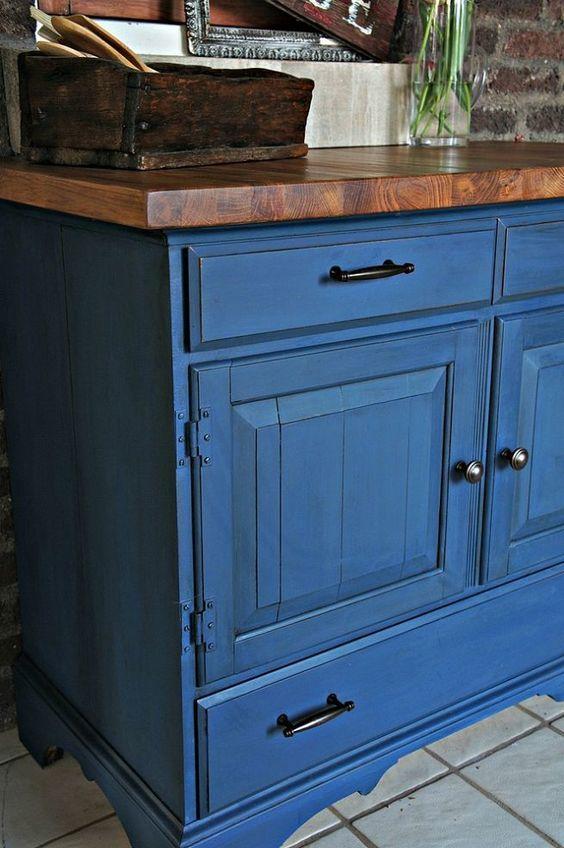 mueble azul chalk paint