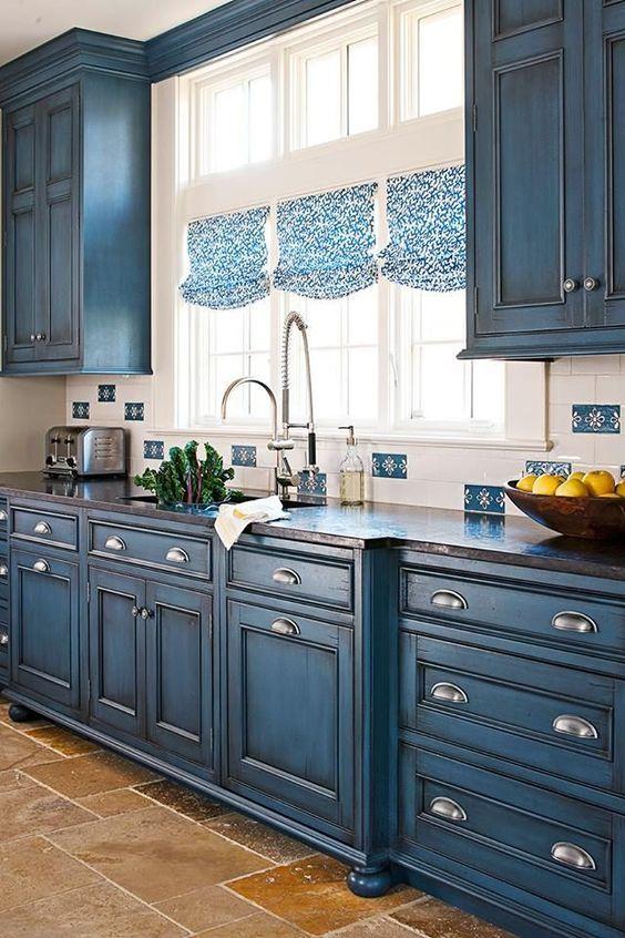 mueble de cocina pintado