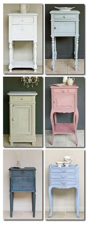 muebles pintados con chalk paint colores pasteles