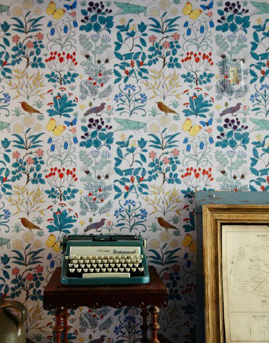 40 fotos de papel para pared vintage estreno casa - Papel vintage pared ...