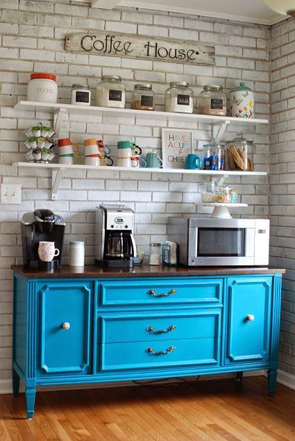 Cocinas originales te mostramos 33 para imitar en tu for Muebles cocina vintage