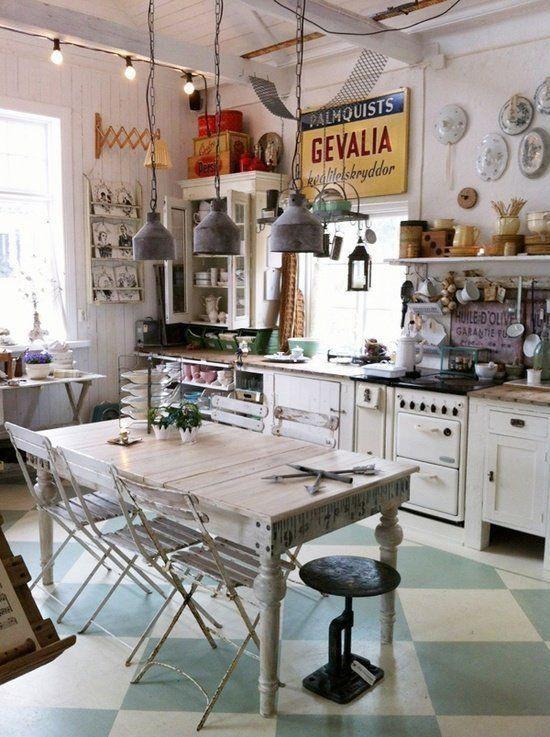 Cocinas originales te mostramos 33 para imitar en tu - Muebles de cocina retro ...