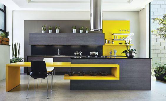 Cocinas originales te mostramos 33 para imitar en tu for Mesas de cocina de silestone