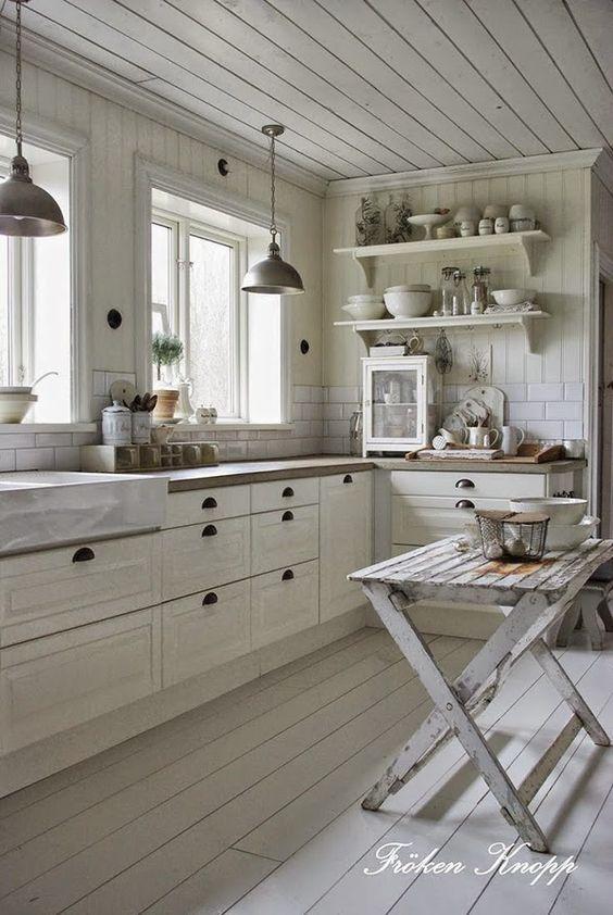 Cocinas originales te mostramos 33 para imitar en tu - Cocinas vintage blancas ...
