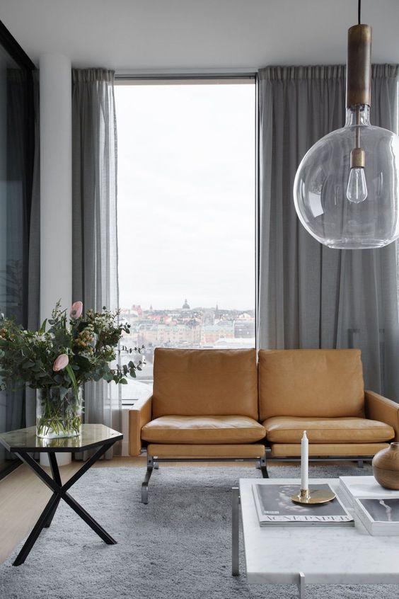 50 dise os de cortinas modernas para sal n 2017 estreno - Cortinas negras decoracion ...
