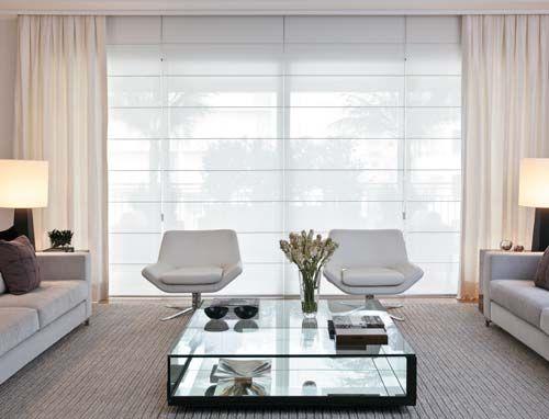 50 dise os de cortinas modernas para sal n 2017 estreno - Tende sala moderna ...