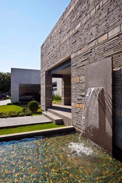 Materiales para fachadas exteriores de casas iluminacin - Materiales para fachadas exteriores ...
