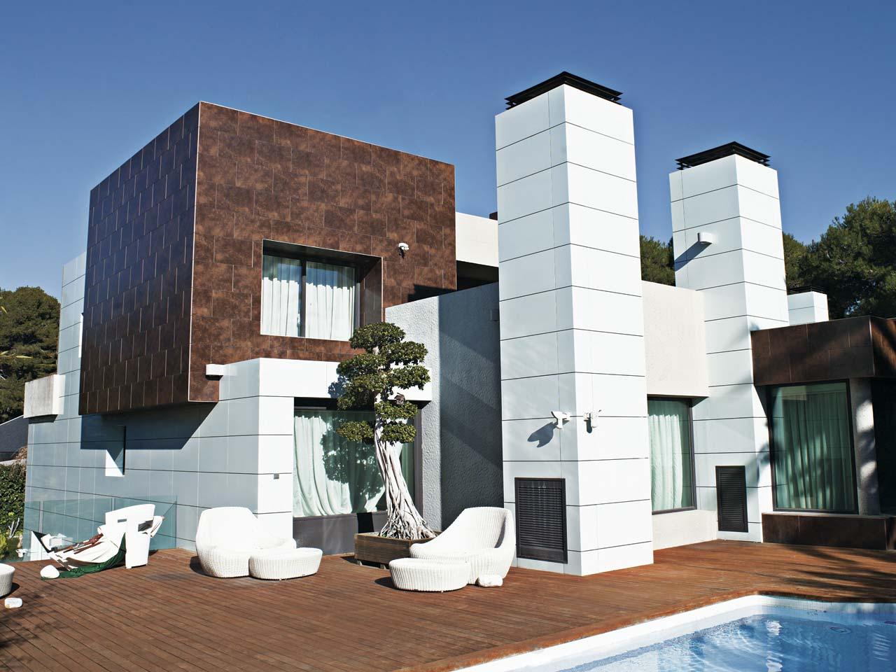 más de 30 revestimientos de fachadas y paredes exteriores - estreno casa