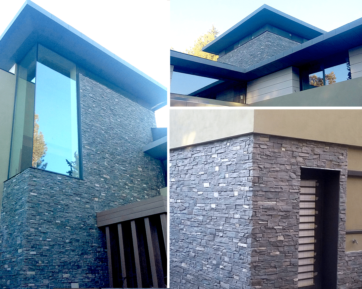 M s de 30 revestimientos de fachadas y paredes exteriores for Casas modernas revestidas en piedra