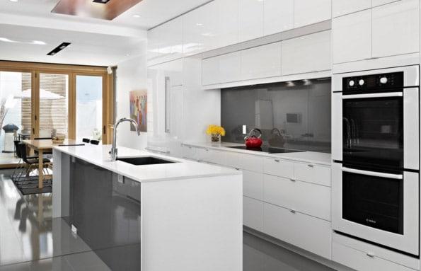 cocina blanca moderna - Salones Modernos
