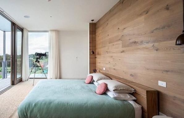 Paredes de madera en dormitorios good tambin pueden - Paredes decoradas con madera ...