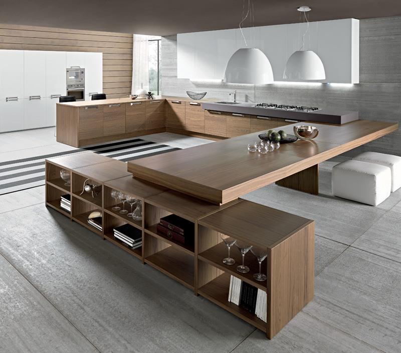 Cocinas originales te mostramos 33 para imitar en tu - Cocinas de madera modernas ...