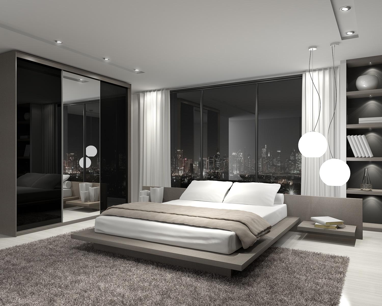 60 dormitorios de matrimonio modernos que te encantar n for Cama tipo japonesa
