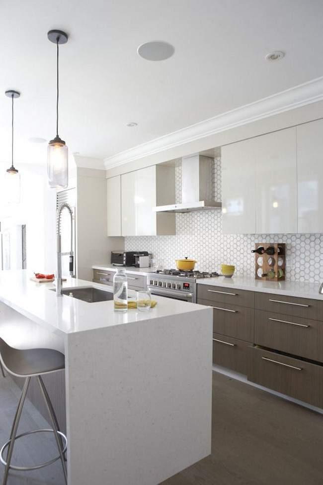 Las 30 cocinas blancas modernas que la van a petar el 2017 estreno casa - Azulejos cocina ...