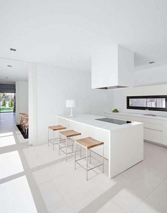 Las 30 cocinas blancas modernas que la van a petar el 2017 for Imagenes cocinas blancas