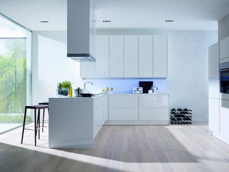 cocina moderna con blanco - Cocinas Modernas Blancas
