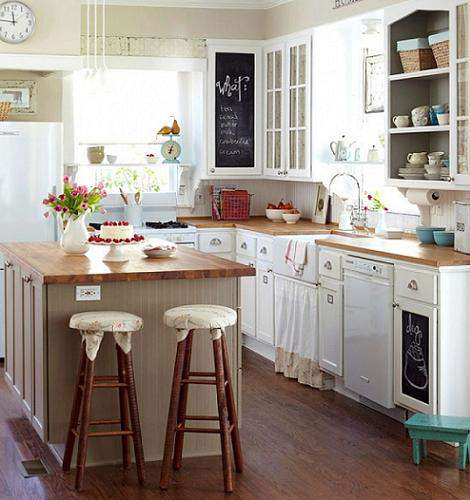 Las 30 Cocinas Blancas Modernas Que La Van A Petar El 2017 Estreno - Cocinas-rusticas-modernas-fotos