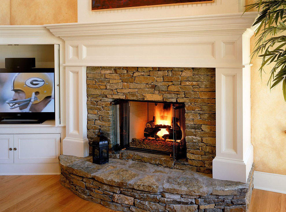 45 fotos de chimeneas r sticas perfectas para tu hogar for Decoracion de chimeneas