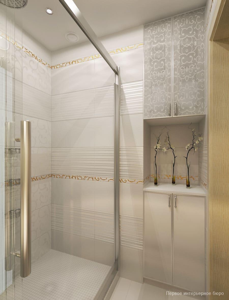 40 ba os peque os con ducha que vas a envidiar estreno casa - Mosaicos para banos ...
