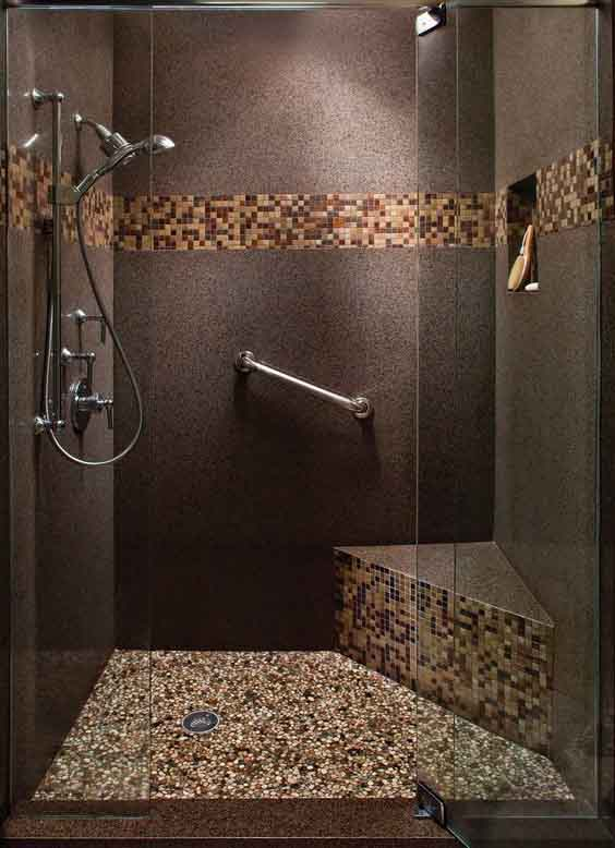 45 patrones de azulejos para ba os peque os que debes ver for Banos decorados con piedra