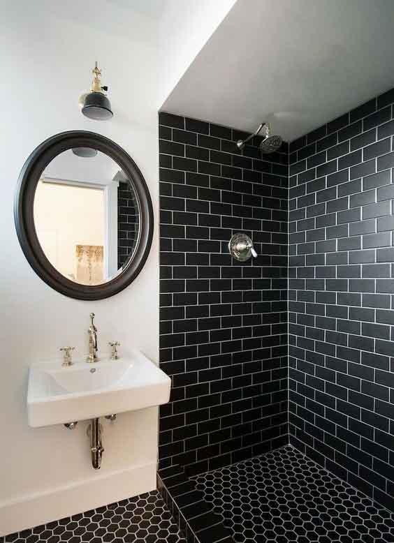 45 patrones de azulejos para ba os peque os que debes ver - Azulejos mosaicos para banos ...