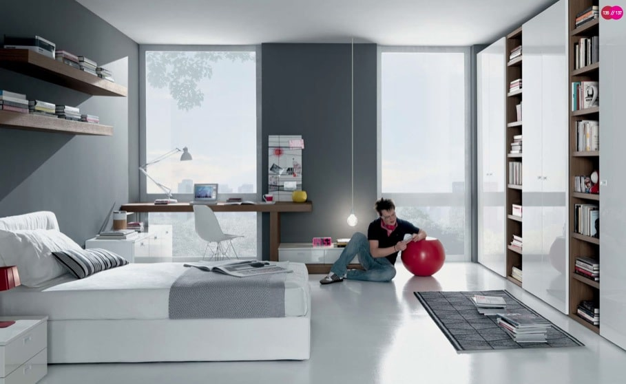 Boy Teen Room Gris