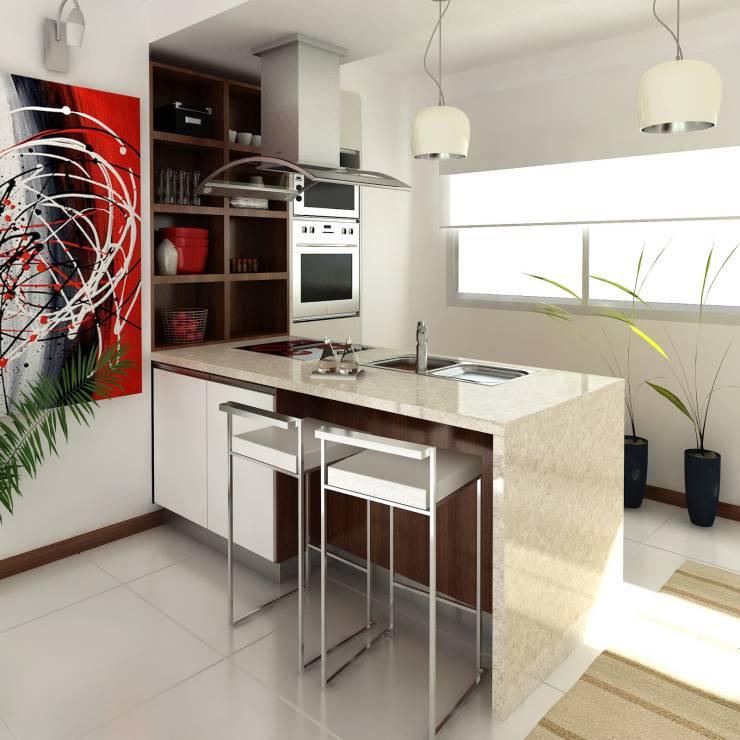 Cocinas modernas 50 fotos desde sencillas a for Ver cocinas modernas