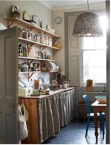 Cocinas originales te mostramos 33 para imitar en tu for Cortinas cocina originales