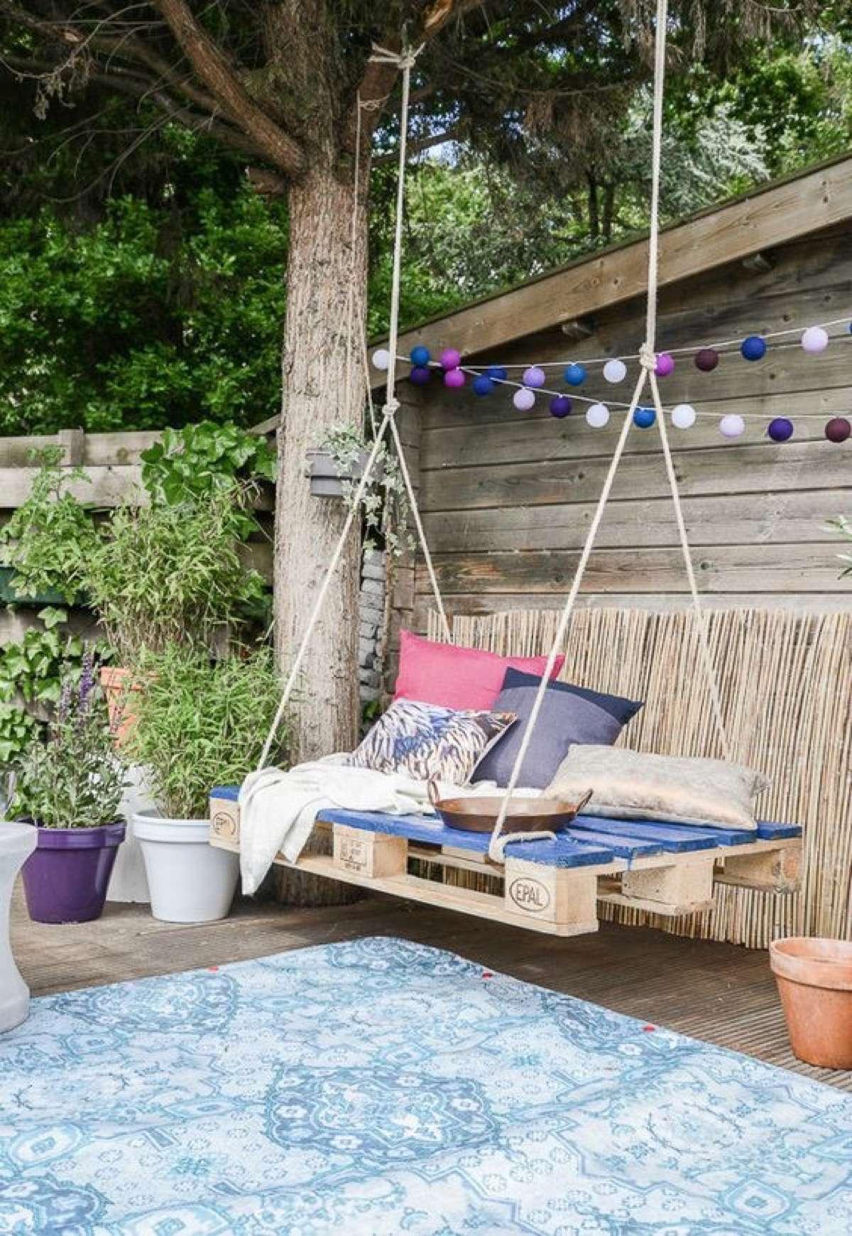 100 dise os de muebles con palets para interior y exterior - Cojines grandes ...