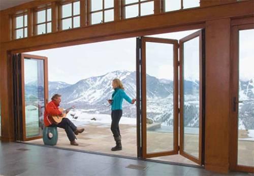 Puertas correderas de exterior 35 modelos para tu hogar - Puertas tipo acordeon ...