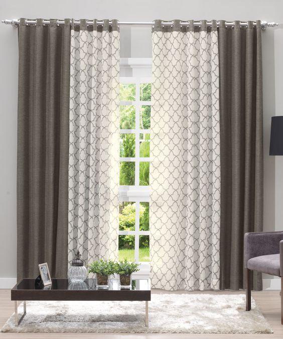 50 dise os de cortinas modernas para sal n 2017 estreno - Tipos de cortinas modernas ...