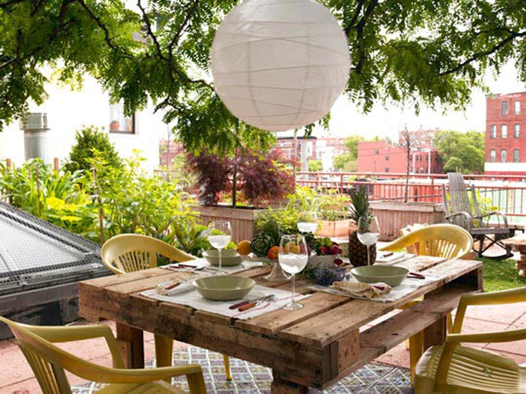 mesa comedor exterior