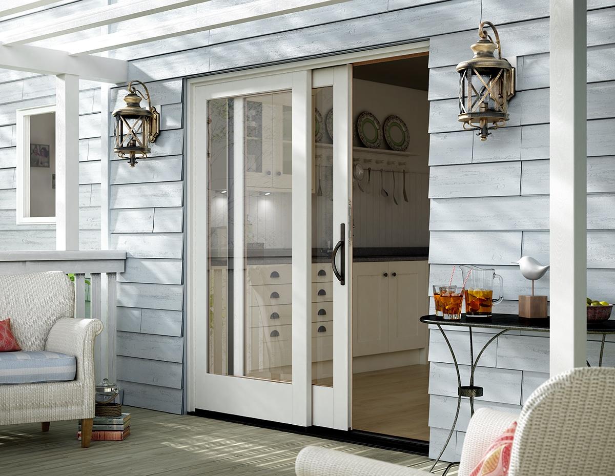 Puertas correderas de exterior 35 modelos para tu hogar - Casas de madera blancas ...