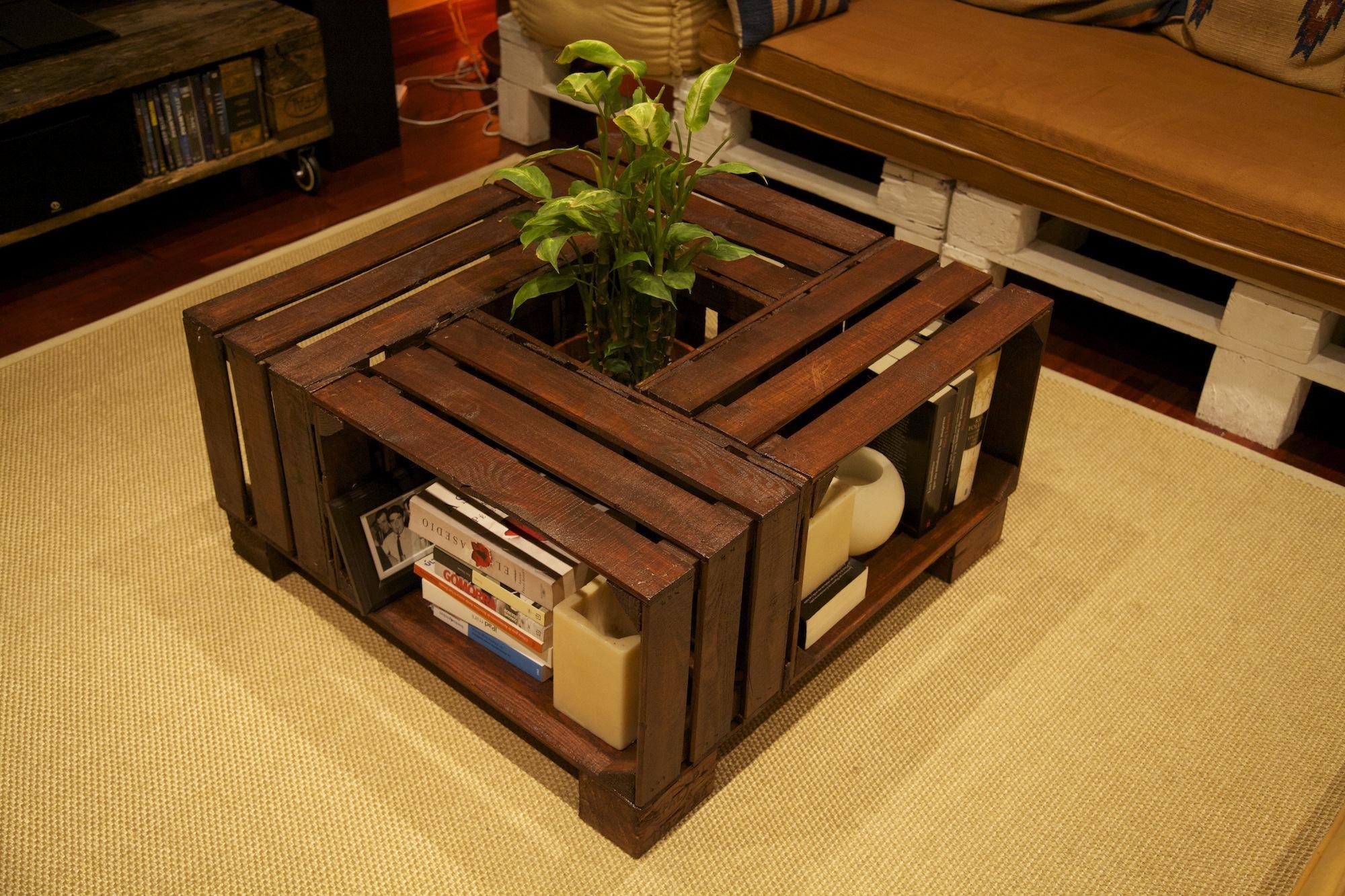 100 dise os de muebles con palets para interior y exterior - Como hacer una mesa con palets ...
