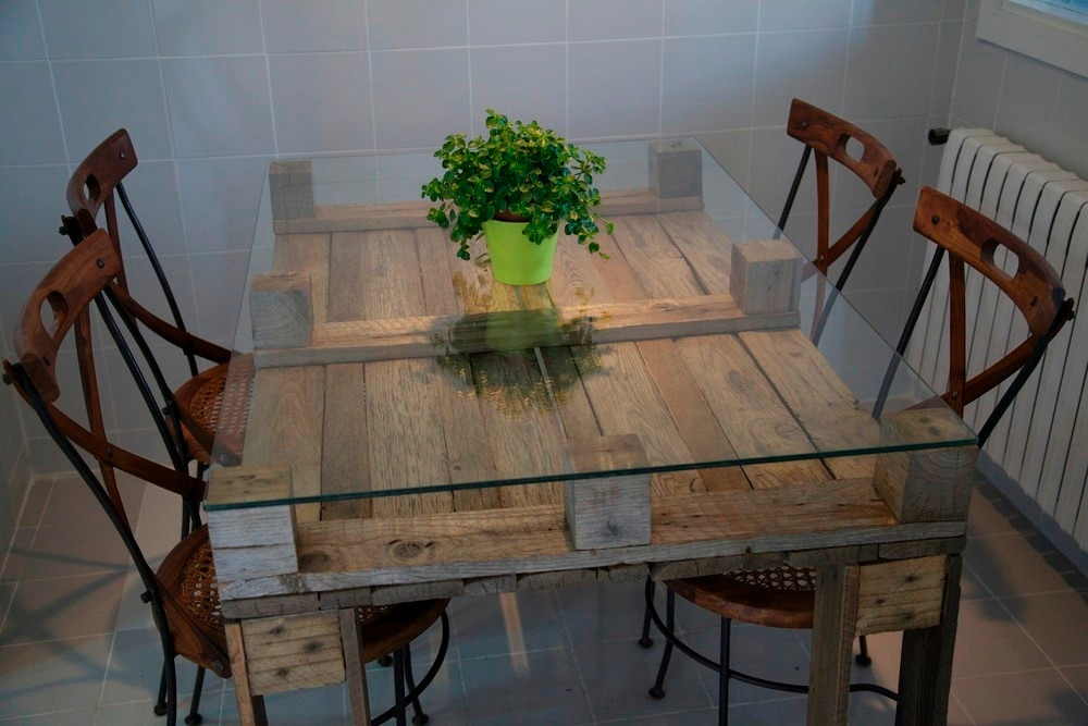 100 dise os de muebles con palets para interior y exterior estreno casa - Mesita de comedor ...
