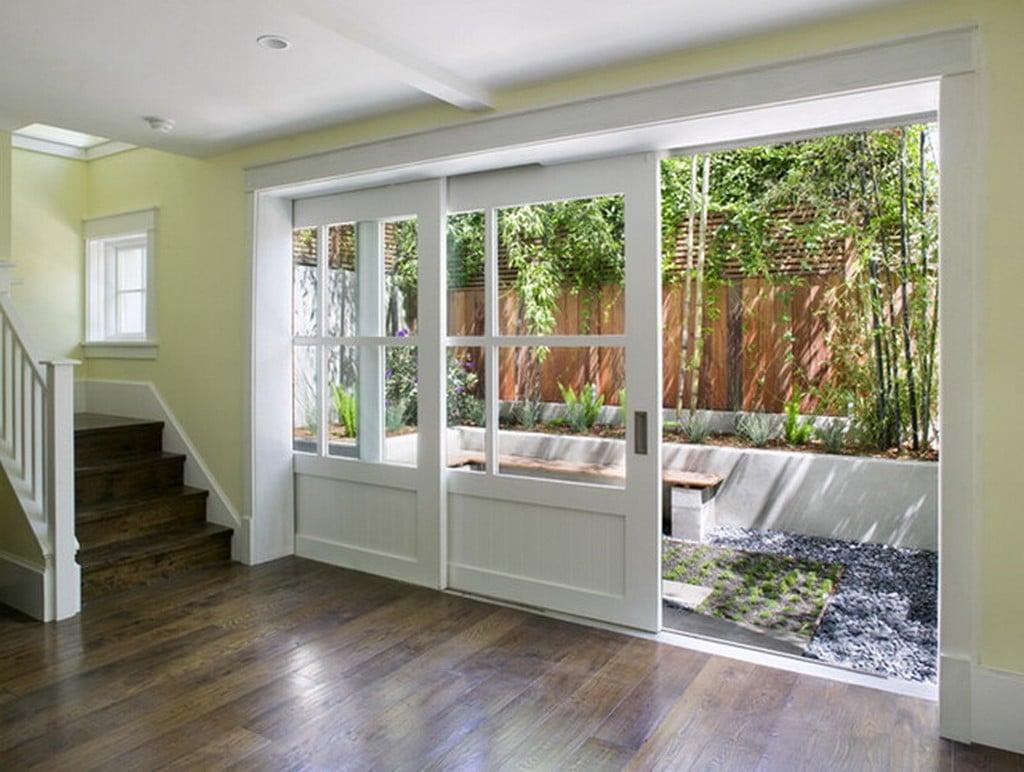 Puertas correderas de exterior 35 modelos para tu hogar - Puertas acristaladas exterior ...