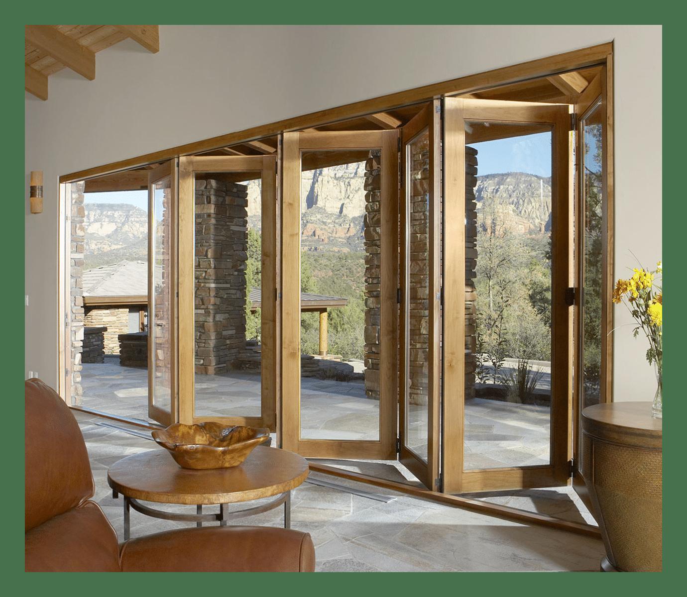 Puertas correderas de exterior 35 modelos para tu hogar estreno casa - Puertas de acordeon de madera ...