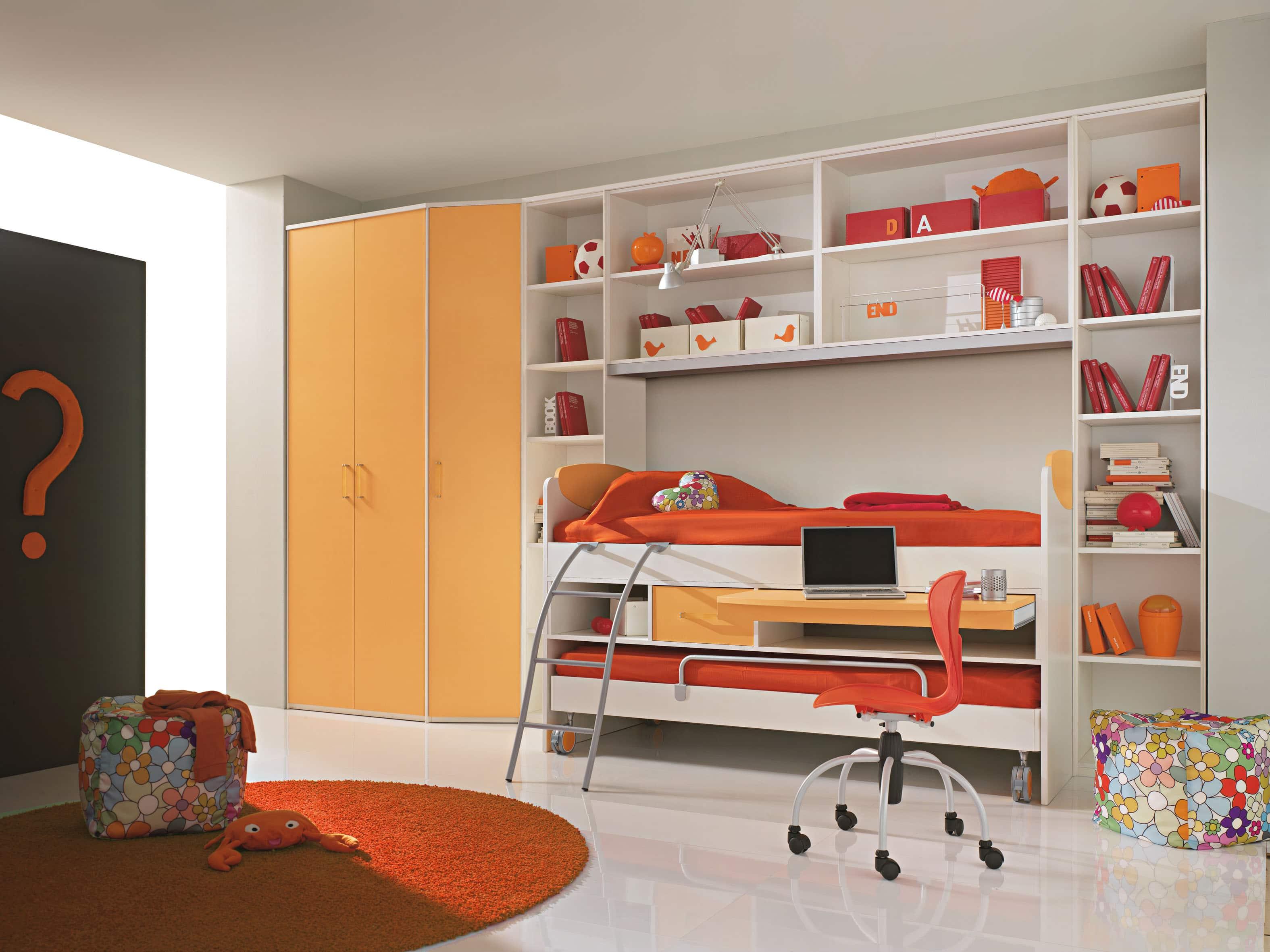 Habitaciones juveniles originales 80 ideas para tus hijos - Entrancing pictures of red black and white teenage bedroom decorating design ideas ...